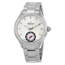 Alpina Horological Smartwatch Silver Guilloché Dial Diamond...