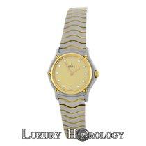 Ebel Ladies Classic Wave Mini 1057901 Steel 18K Gold Diamond