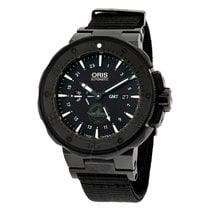 Oris Pro Diver Force Recon GMT Black Dial Black Rubber...