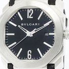Bulgari Polished  Octo Steel Leather Automatic Mens Watch...