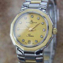 Baume & Mercier Baume  Diamond Dial 18k Gold Stainless...