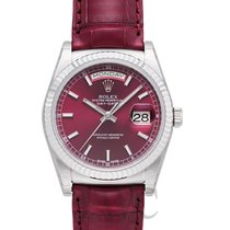 Rolex Day-Date Cherry 18k White Gold/Leather Ø36 mm - 118139