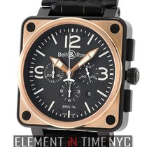 Bell & Ross Aviation Chronograph 46mm 18k Rose Gold And...