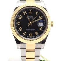 Rolex Date Just II Steel Yellow Gold black arab dial NEW