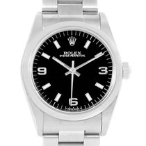 Rolex Midsize Oyster Perpetual Black Dial Stainless Steel...