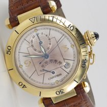 Cartier Pasha Gangreserveanzeige Gelbgold 2395