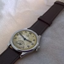 Omega WW2 era vintage steel serviced