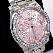 Rolex Datejust 36mm Oyster Perpetual Diamond Bezel Pink Dial...