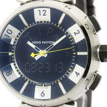 Louis Vuitton Polished Louis Vuitton Tambour In Black Steel...