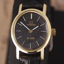 Omega DeVille Swiss Made Ladies 1980s Manual Gold Plated Dress...
