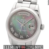 Rolex Day-Date  President 18k WG Tahitian MOP Roman Dial P...