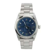 Rolex Midsize Oyster Perpetual Blue Dial Stainless Steel