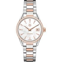 TAG Heuer Carrera 32mm Date Quartz Ladies Watch Ref WAR1353.BD...