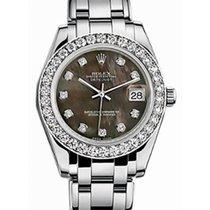 Rolex Pearlmaster 34 81299 Black Mother of Pearl Diamond Bezel...