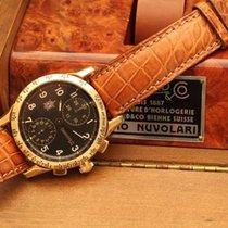 Eberhard & Co. tazio nuvolari yellow gold chronograph box...