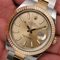 Rolex Datejust Ii 116333 Mens Steel & Yellow Gold Champagn...