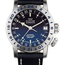 Glycine Airman 17 Automatic - Blue Degrade Dial - Natural Blue...