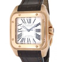 Cartier Santos 100 W20108y1 In Oro Orsa E Pelle