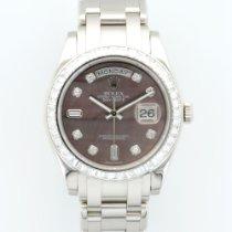 Rolex Platinum Day-Date Masterpiece Baguette Diamond Ref. 18956