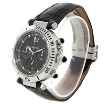 Cartier Pasha Millennium Steel Platinum Gray Dial Watch W3105155