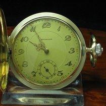 Edi Precision 14kt 585 Gold Savonette Sprungdeckel Taschenuhr