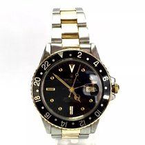 Rolex Oyster Perpetual Gmt-master 18k Gold & Ss Mens Watch...