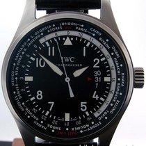 IWC Pilot Worldtimer Auto Black Dial Crocodile Strap IW326201...