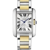 Cartier W5310047 Tank Anglaise Medium in Steel and Yellow Gold...