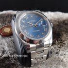 Rolex 116300 Datejust II Blue Roman Dial Smooth Bezel [...