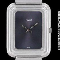 Piaget Beta 21 18k White Gold Galbe Case Electronic Rare 1970