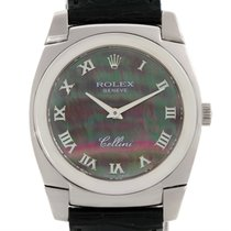 Rolex Cellini Cestello 18k White Gold Mother Of Pearl Watch 5320