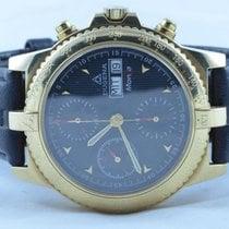 Dugena Herren Uhr Automatik Chrono 14k 585 Gold 39mm Limited...