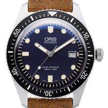 Oris Sixty-Five 42 Ref. 01 733 7720 4055-07 5 21 02 braunes Leder