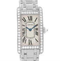 Cartier Tank Americaine 18k White Gold Diamond Watch Wb7073l1