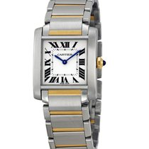 Cartier W2TA0003 Tank Francaise 2-Tone Mid-Size No Date New...