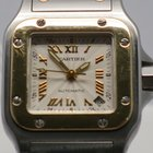 Cartier Santos Galbee 2423 Gold Steel Roman 24mm