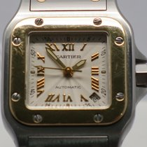 Cartier Santos Galbee 2423 Gold Steel Roman 24mm