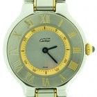 Cartier Must 21 Steel & 18k Gold Quartz Ladies Watch 28mm...
