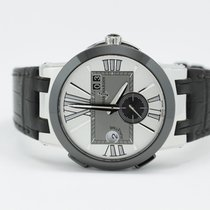 Ulysse Nardin Executive Dual Time 243-00 Silver Dial With...