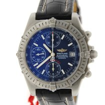 Breitling Chronomat Blackbird Blue Dial Stainless Steel