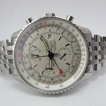 Breitling Navitimer  46mm World GMT Chronograph Mint Box Papers