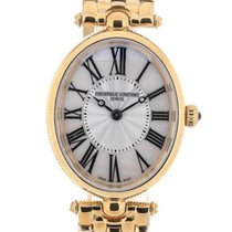 Frederique Constant Art Deco Full Gold Plated Mother of Pearl...