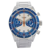 Tudor Heritage Chrono Blue Stainless Steel Mens Watch 70330...