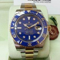 Rolex 116613LB Blue Gold Steel Ceramic Submariner Date Diamond
