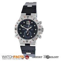 Bulgari Men's Diagono Pro Acqua Scuba SD38S GMT 3 Time Zone