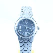 Ebel E-type Damen Uhr 25mm Stahl/stahl Mit Box Und Papieren...