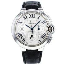 Cartier Ballon Bleu 42mm Chronograph W69020003 Stainless Steel...