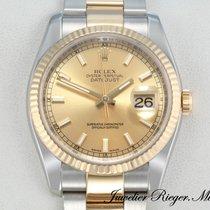 Rolex Datejust 116233 Stahl Gelbgold 750 Automatik 36mm Date Just