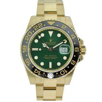 Rolex 116718LN GMT Master II Green Dial Yellow Gold