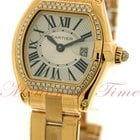 Cartier Roadster Small, Silver Dial, Diamond Bezel - Yellow Gold